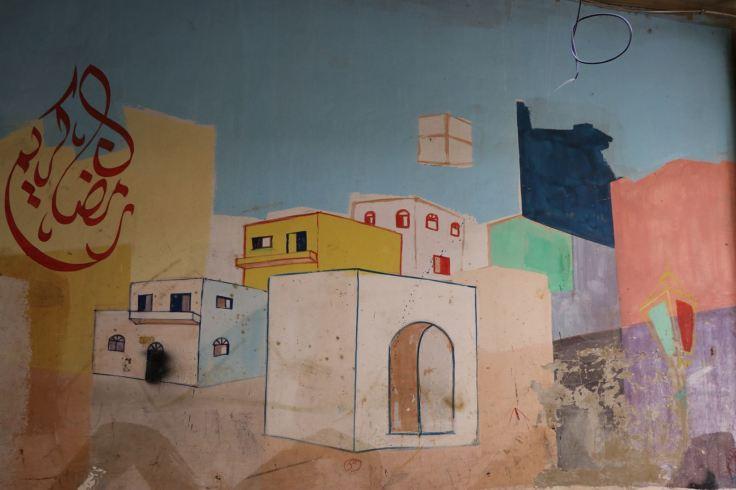 Ramadan Kareem mural in Baddawi