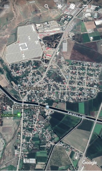 Refugee camp in Cevdetiye, Osmaniye province was established in agricultural lands of Cevdetiye. Cevdetiye refugee camp hosts 12.610 Syrian refugees in December 31, 2019 (Google Map).